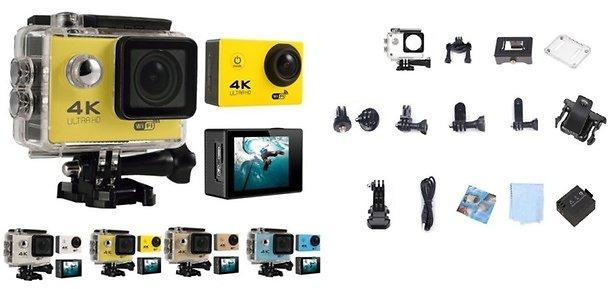 NEW 4K Action Sport Camera Ultra HD WiFi Waterproof GoPro Style Bundle $76