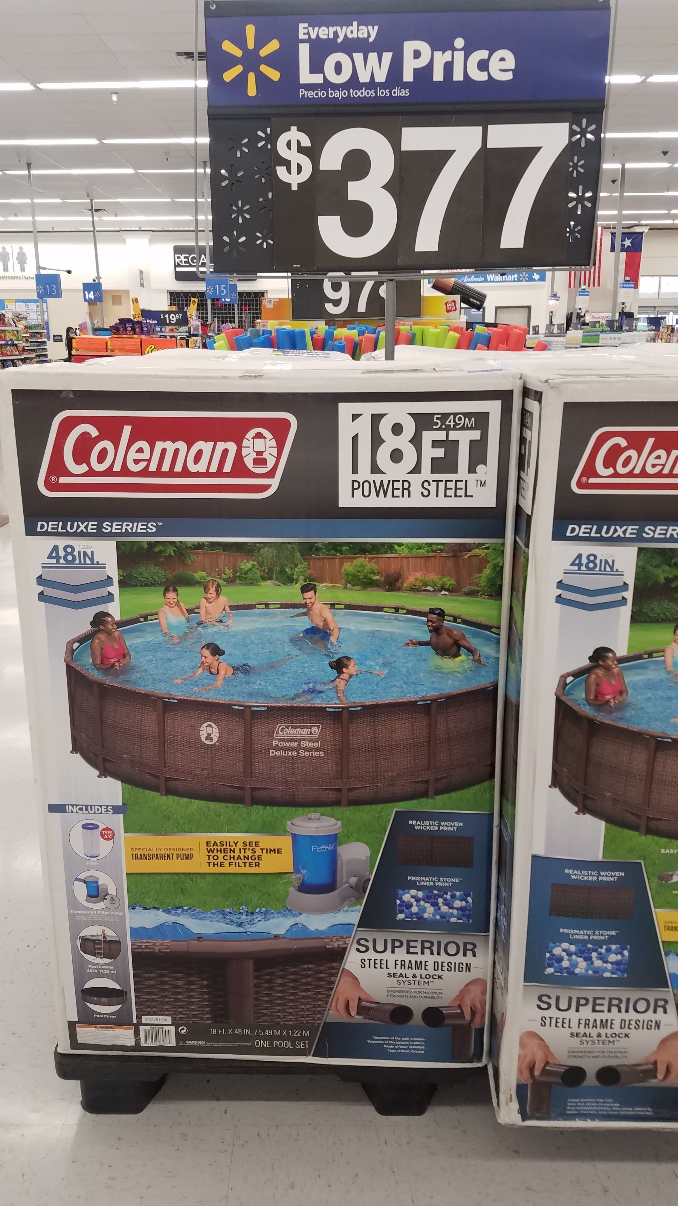 """Coleman 18'x48"""" Deluxe Series swimming pool $377 YMMV at WalMart"""