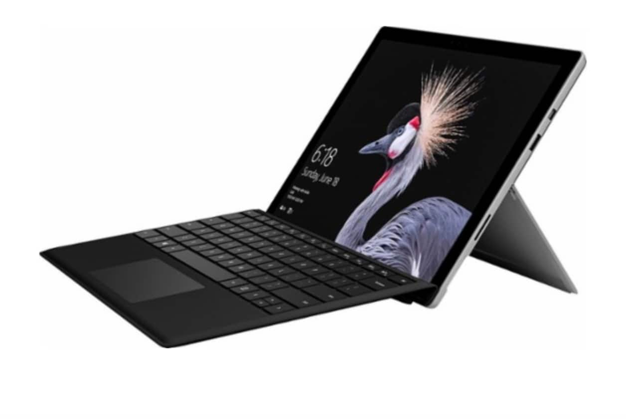 2017 Microsoft - Surface Pro Core M with Black Type Cover - Platinum $629