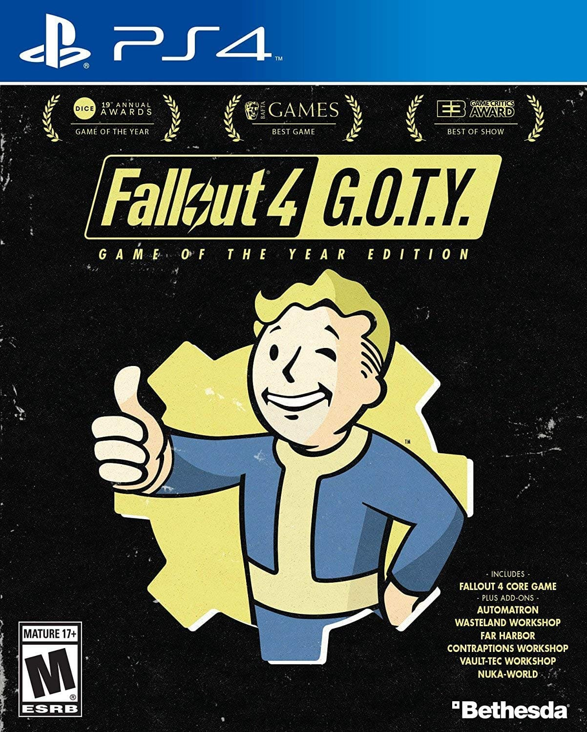 Fallout 4 GOTY (PS4, XB1) Amazon, Best Buy, $25