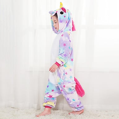 Kigurumi Pajamas Flying Horse Festival/Holiday Animal Sleepwear Halloween Purple Fashion Print Embroidered Flannel Fabric Cosplay 06246906 $9.99 at Light In The Box
