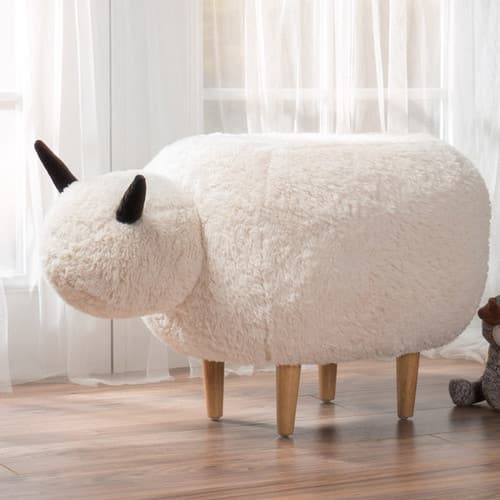 Pearcy Velvet Sheep Ottoman by Christopher Knight Home $58.99 @ Overstock