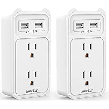 $5.77 Off Wall Mount Outlet with Dual USB Charging Ports  $14.13 at Amazon