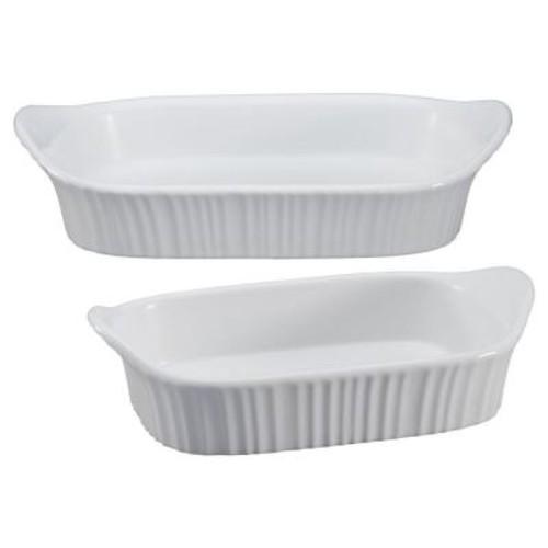 Corningware French White 2-Pc. Bakeware Set $24.99 at Macys