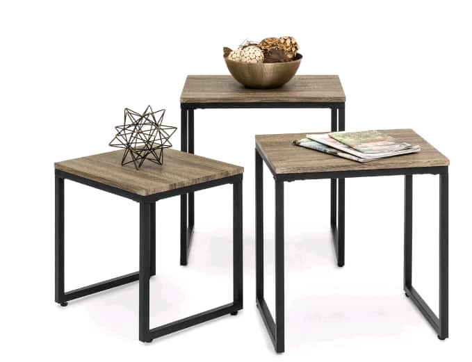 3-Piece Nesting Coffee End Table Set on sale for $49.99