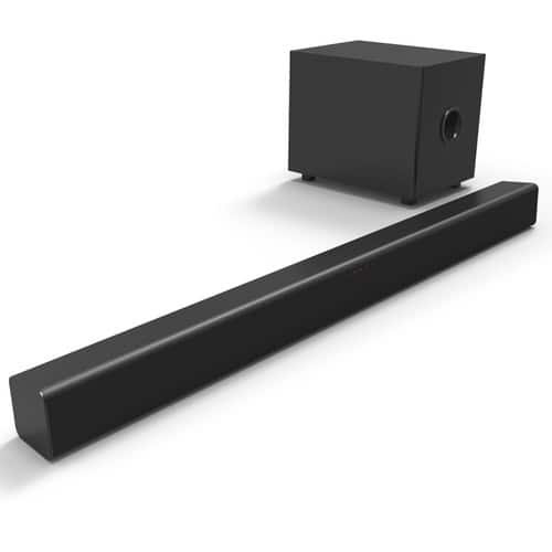 2.1 Channel Soundbar System with Bluetooth & Wireless Subwoofer (FWSB426F) on sale for $69.99