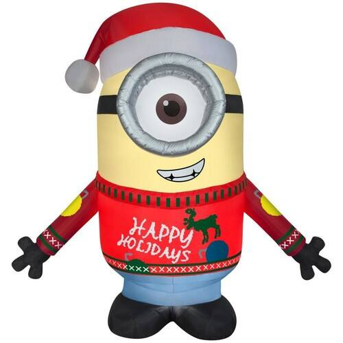 Universal 9.51-ft x 7.87-ft Lighted Minion Christmas Inflatable on sale for $37.5