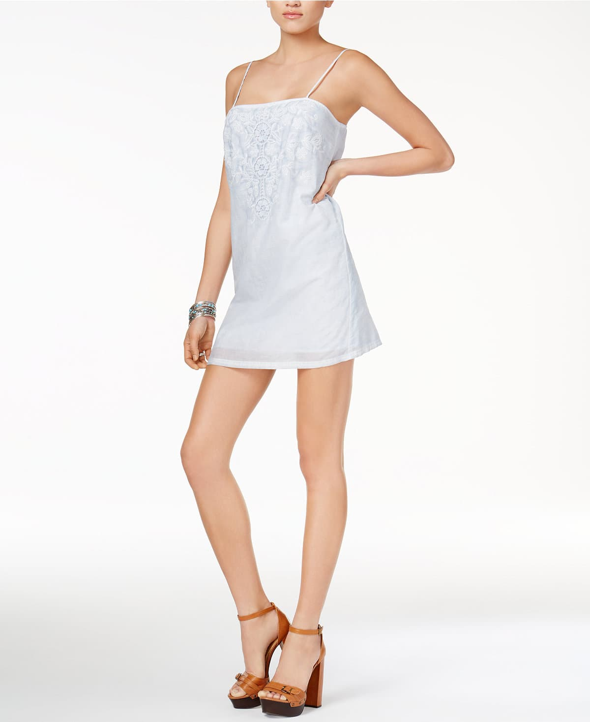 GUESS Judy Embroidered Slip Dress $24.66 at Macys