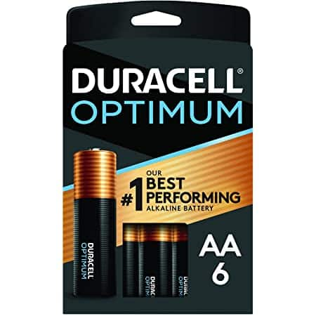 Amazon : Duracell Optimum AA Batteries - 6 Count Pack $3.23