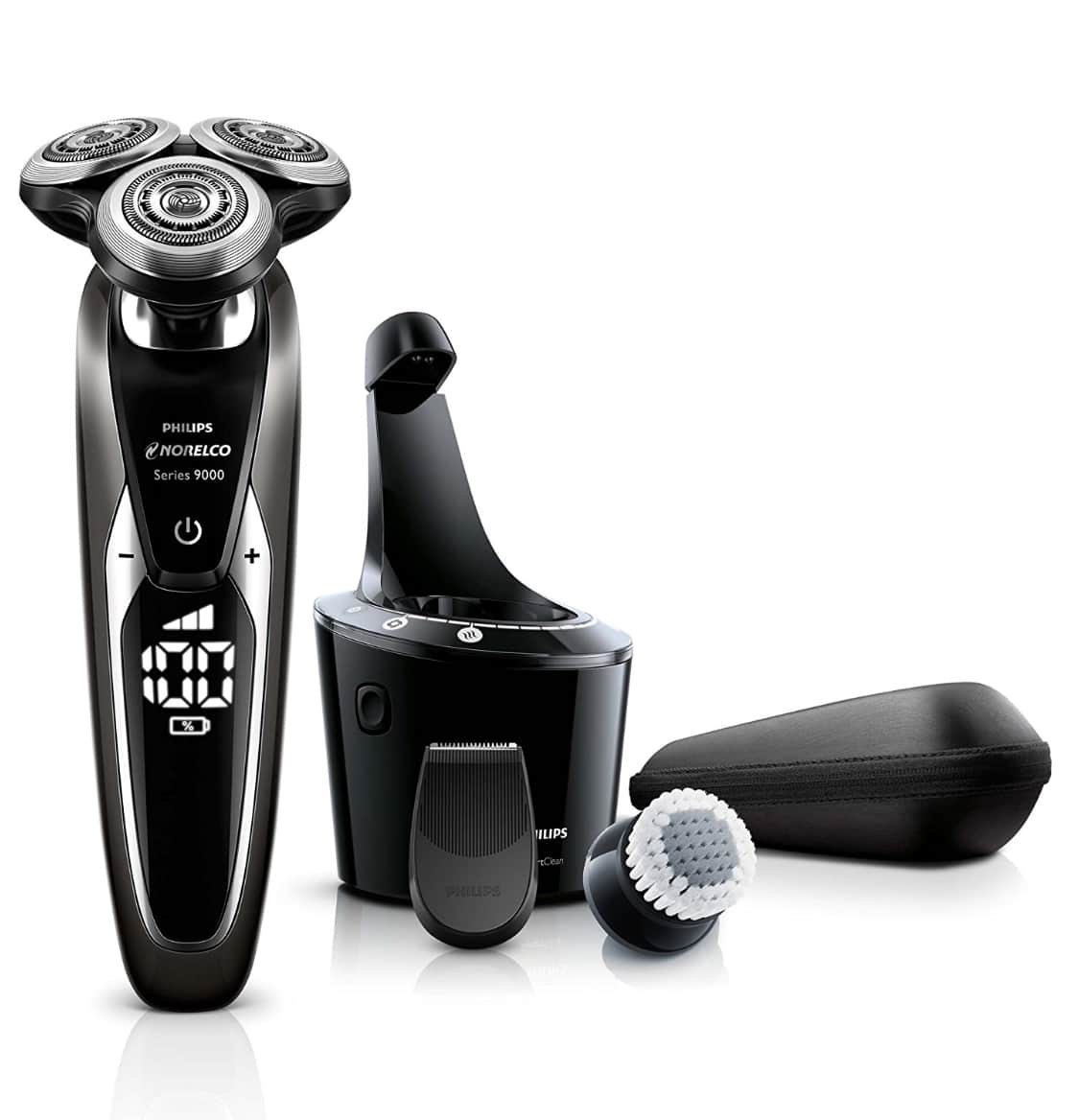 Ended...[Amazon] Philips Norelco Electric Shaver 9700, Cleansing Brush, Smart clean, $179.99