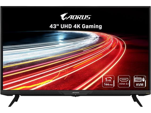 "AORUS FV43U 43"" QLED UHD 4K 3840 x 2160 144Hz 1ms (MPRT), 1x Display Port 1.4, 2x HDMI 2.1, 2x USB 3.0, KVM w/ USB Type-C Gaming Monitor - Newegg.com $999.00"