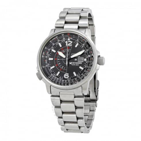 CITIZEN NIGHTHAWK ECO-DRIVE PILOT WATCH BJ7000-52E $189 + Free Shipping