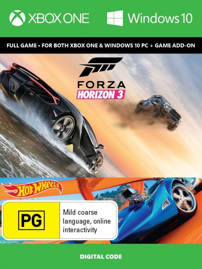 Digital (Xbox One): Forza Horizon 3 + Hot wheels DLC $29.89