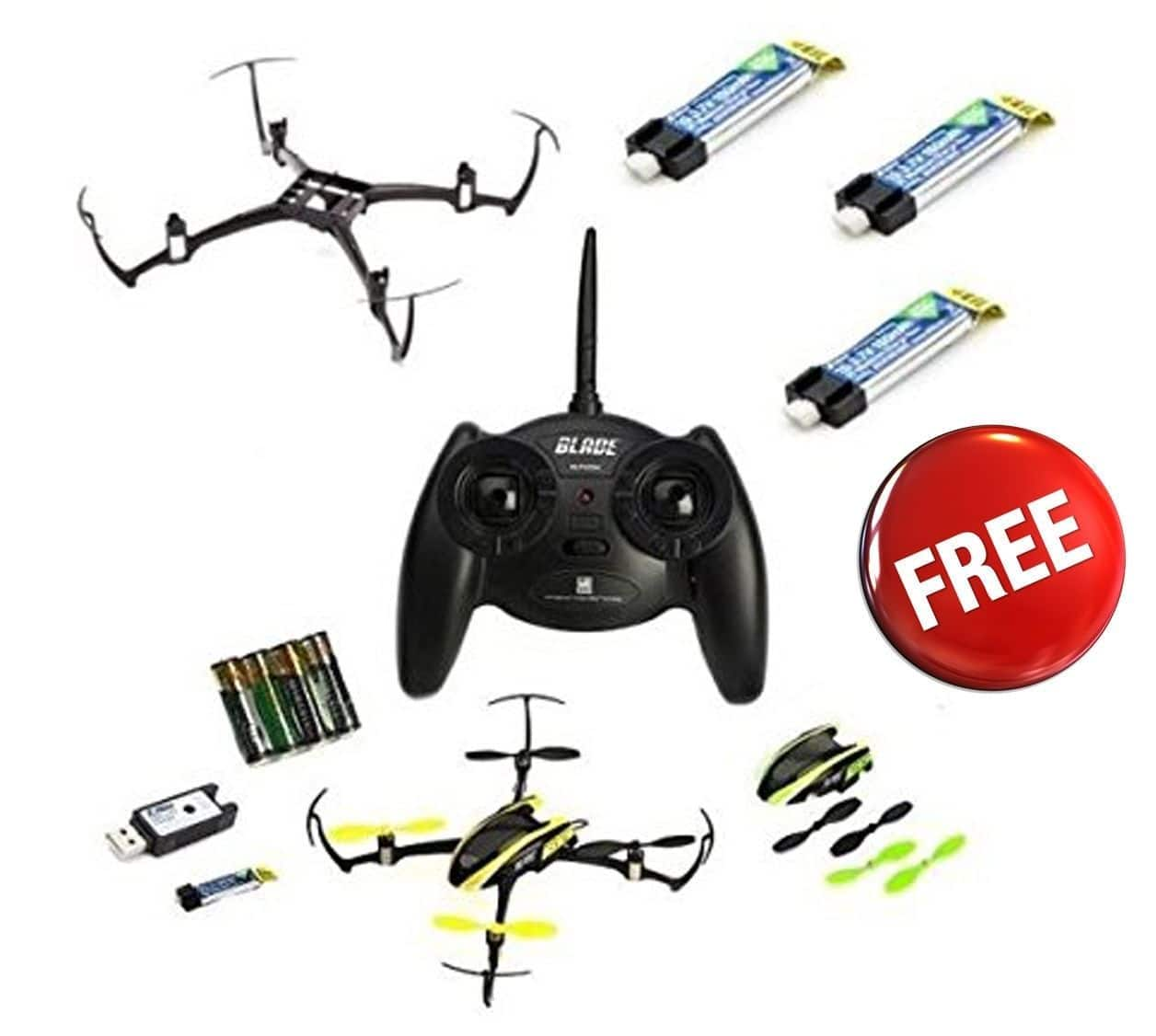 New Blade Nano QX RTF QuadCopter w/ 4 x Battery + Crash Kit Combo # BLH7600 $79.99