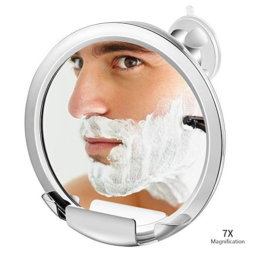Jerrybox 7x Magnification Fogless Mirror with Built-in Razor Holder $9.99