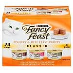 144-Count of 3oz. Fancy Feast Cat Food (various) + $15 Target GC  $58 + Free Store Pickup