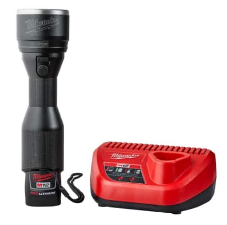 Milwaukee M12 12-Volt LED Flashlight Kit W/ (1) 1.5Ah Battery & Charger. $79.97 @ Home Depot online.