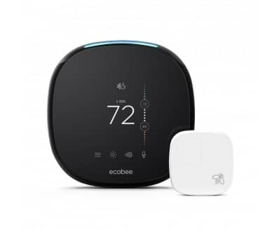 ecobee4 thermostat and sensor + $199.20 or less