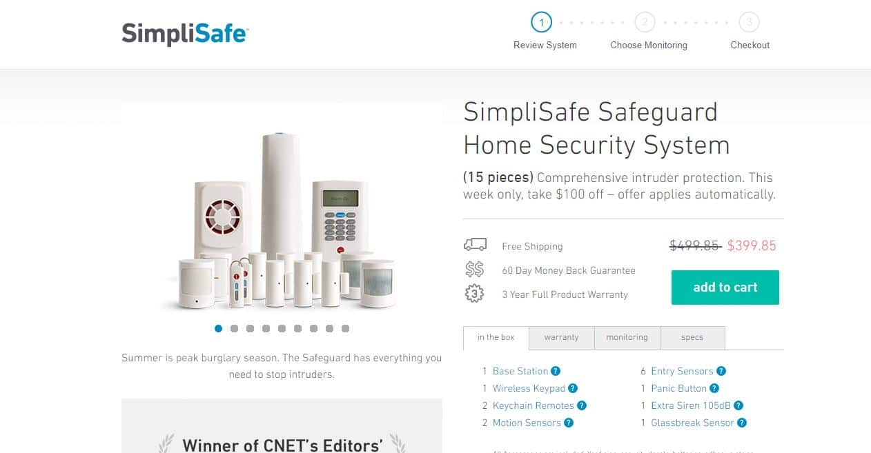 simplisafe black friday deal