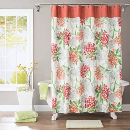 Better Homes and Gardens Watercolor Floral Fabric Shower Curtain $13.45
