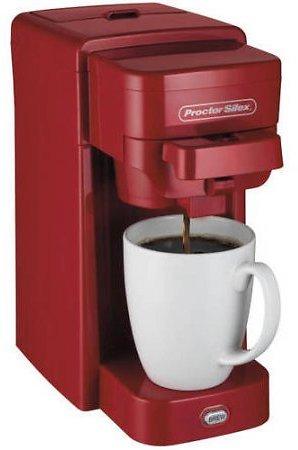 Proctor Silex Single-Serve Coffeemaker (Red) $15
