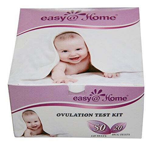 Easy@Home 50 Ovulation Test Strips and 20 Pregnancy Test Strips Combo Kit, (50 LH + 20 HCG) $14.79