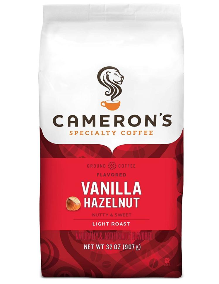 Cameron's Vanilla Hazelnut Ground Coffee 32oz is $7.98 Amazon Subscribe and Save