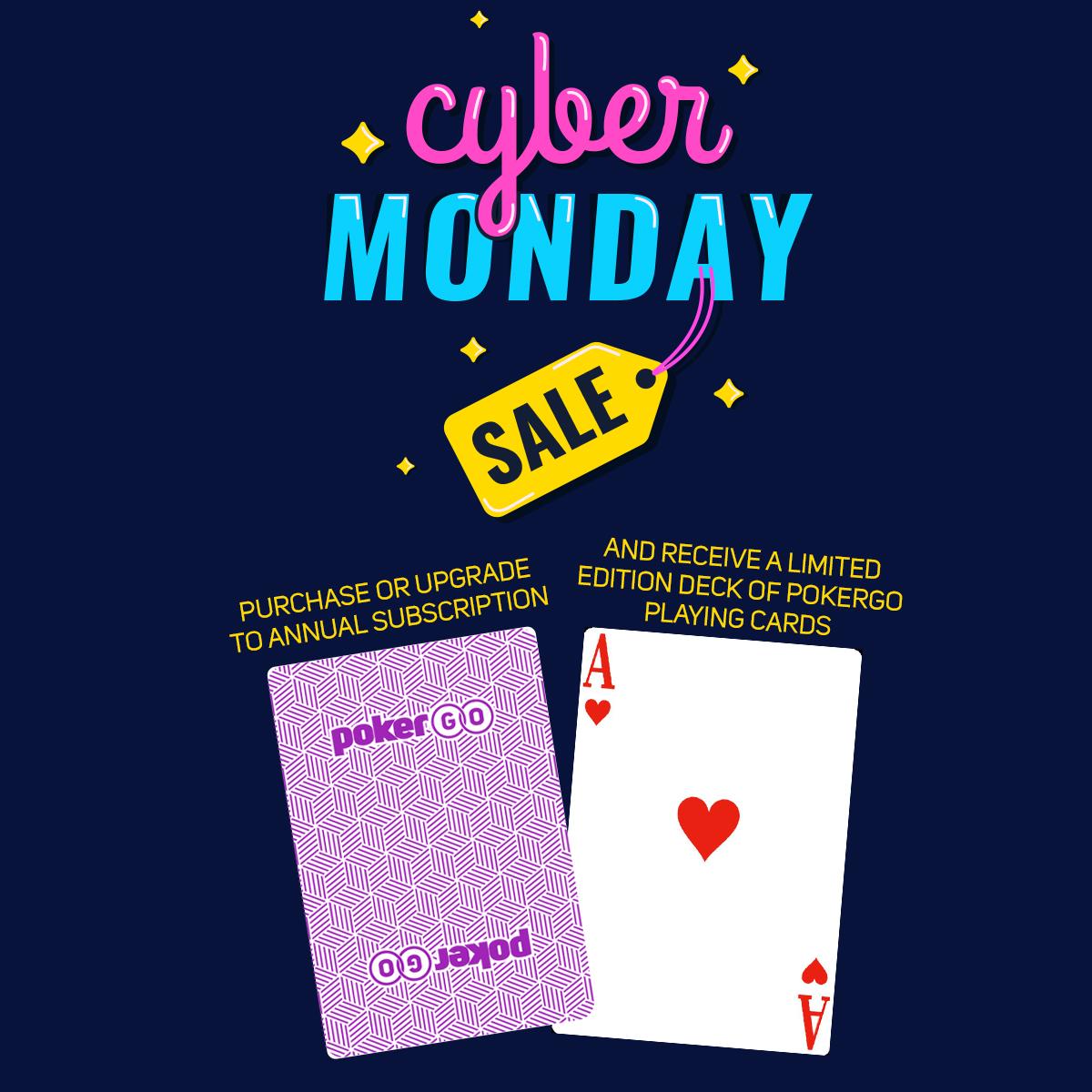 PokerGO Cyber Monday Sale $99
