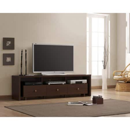 (TV Stand) Techni Mobili Palma 3 Drawer TV Cabinet, Multiple finishes for TVs up to 70'' inches