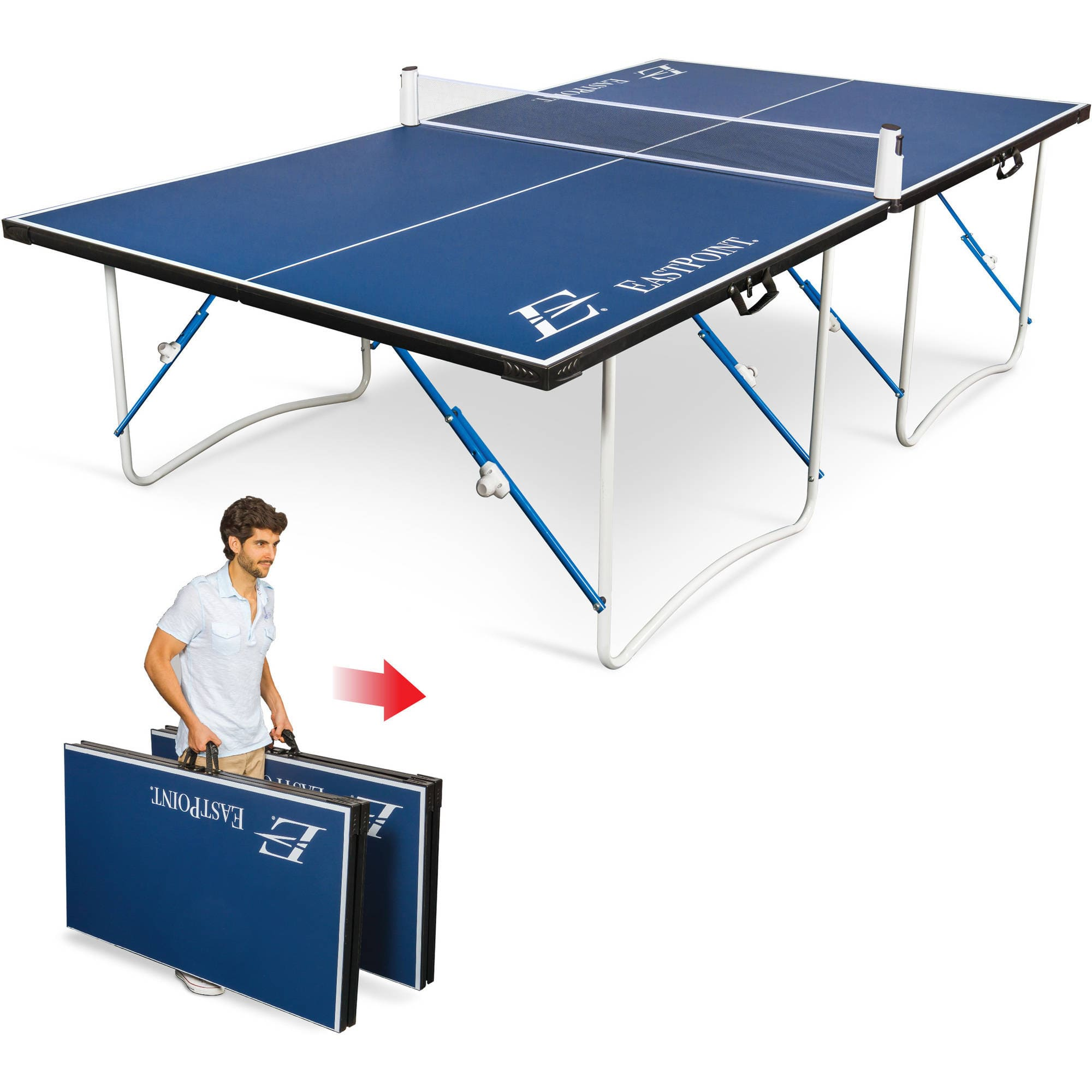 EastPoint Sports Easy Setup Fold & Store Table Tennis Table -  $48.13 -  free store pickup