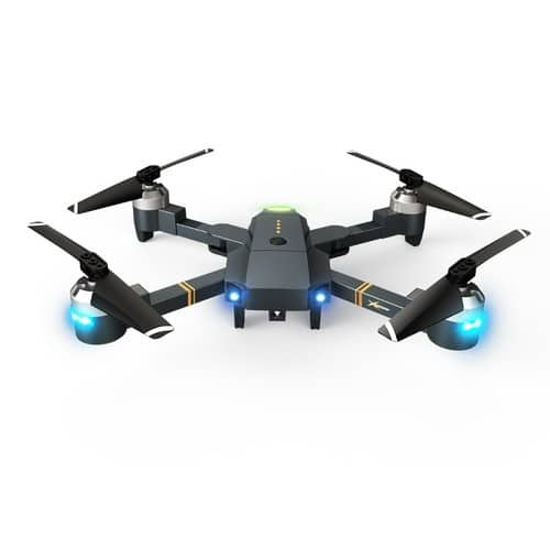 Theefun Foldable AR RC Drone with 720P HD Wi-Fi Camera Live Video Feed 2.4GHz 6-Axis Gyro Quadcopter - $39.99