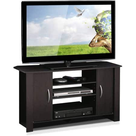 Furinno Econ Espresso TV Stand Entertainment Center for TVs up to 42 inches $33.83
