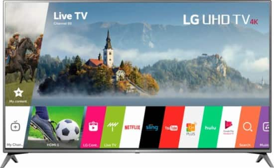 LG 75 inch 4K UHD HDR Smart TV - 75UJ6450- W/ Free DELL $300 Promo Gift card $1599.99