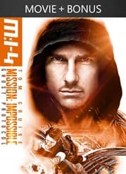 Mission: Impossible Ghost Protocol + Bonus Content - Rental HD - $0.99