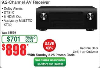 Fry's Email Exclusive: Denon AVR-X4400H 9 2 Premium Channel