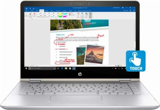 "HP - Pavilion x360 2-in-1 14"" Touch-Screen Laptop - Intel Core i5 - 8GB Memory - 128GB Solid State Drive - $449.99"