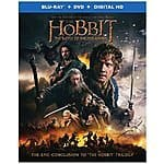 The Hobbit: The Battle of the Five Armies (Blu-ray + DVD + Digital HD UltraViolet Combo Pack) $14.99 at Amazon.com and Best Buy with Free Shipping