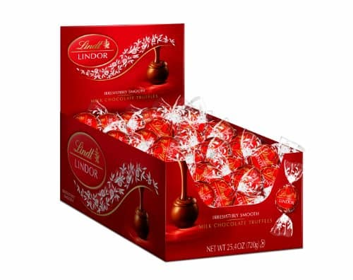 Lindt LINDOR Milk Chocolate Truffles, 60 Count Box $14.88 @ Amazon.com FS with Prime or $35 Order