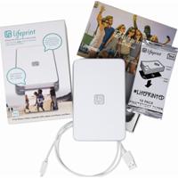 Lifeprint photo printer with 30 pack photo paper $69.99