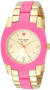 Amazon has the Kate Spade New York Women's 1YRU0163 Skyline Gold-Plated Stainless Steel Bazooka Pink Watch for $44.66 with FS