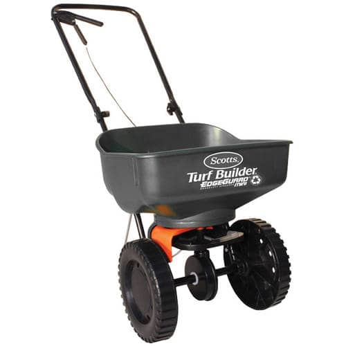 Scotts Turf Builder EdgeGuard Mini Broadcast Spreader for $7.00 Walmart YMMV B&M