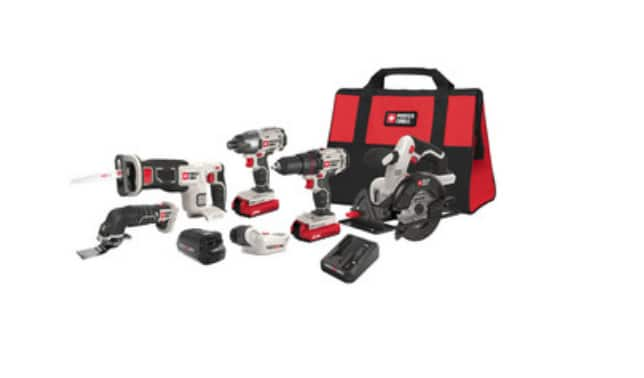 PORTER-CABLE 6-Tool 20-Volt Max Lithium Ion Cordless Combo Kit - $199 YMMV