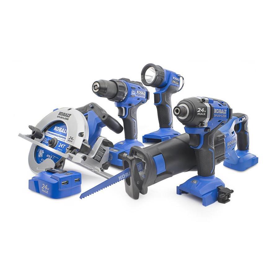 Kobalt 6-Tool 24-Volt Max Lithium Ion Brushless Cordless Combo Kit - $229