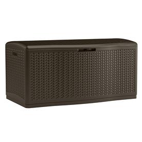 Suncast 52-in L x 29-in W 124-Gallon Java Resin Deck Box - $99