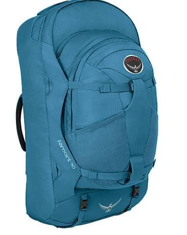 Osprey Farpoint 70 backpack on sale for $125 m/l size only  @ ebags.com
