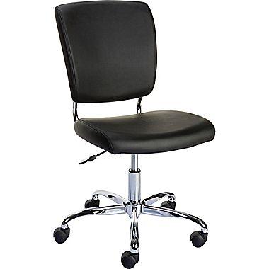 $49.99 Staples 27373 Nadler Luxura Office Chair, Armless, Black