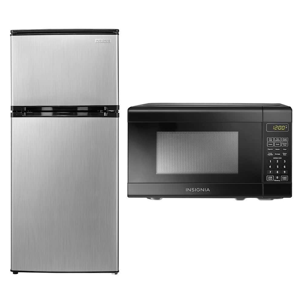 $199.98+F/S Insignia™ - Compact Microwave and Mini Fridge Package