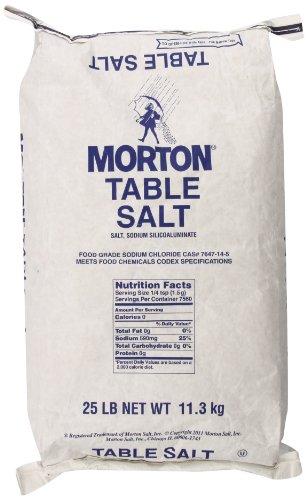MORTON Table Salt, Bulk Salt, Non Iodized Salt, Iodide Free, 25 Pound $4.98