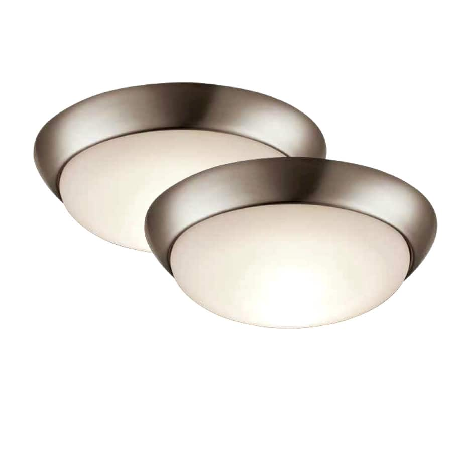 """Project Source 2-pack 11"""" Brushed Nickel LED flush mount light, $9.75 @ Lowe's YMMV"""