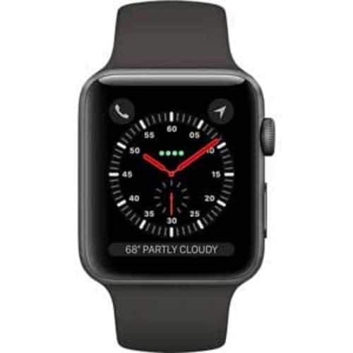 Macy's: Apple Watch Series 3 GPS 38mm, $279, and 42mm, $309